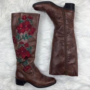 Sam Edelman | Davidson Embroidered Riding Boots